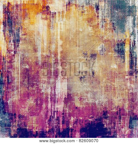 Vintage antique textured background. With different color patterns: yellow (beige); red (orange); purple (violet); pink