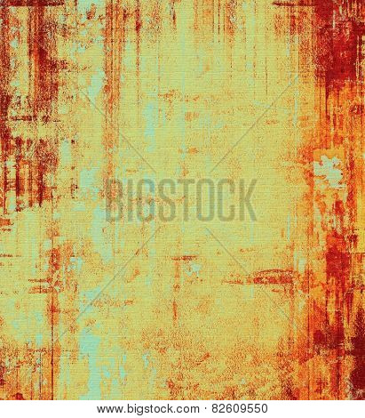 Grunge texture, Vintage background. With different color patterns: yellow (beige); brown; red (orange); cyan