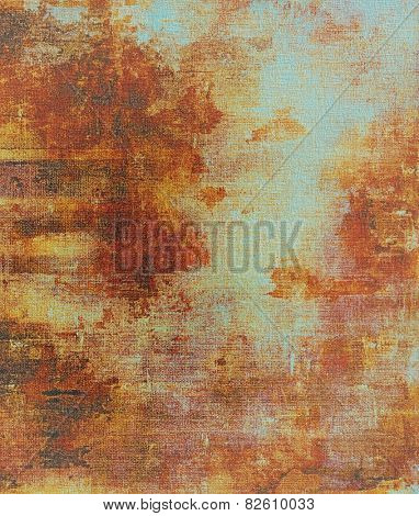 Antique vintage texture, old-fashioned weathered background. With different color patterns: yellow (beige); brown; red (orange); cyan