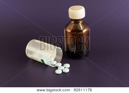 Bottle of Medicinal Pills