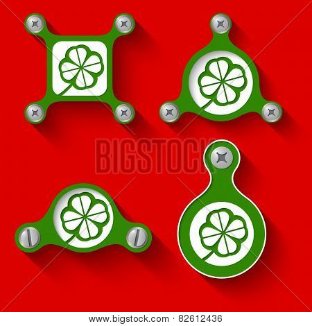 Abstract green Objects