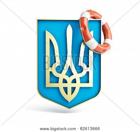 Emblem Of Ukraine Lifebuoy On A White Background.jpg