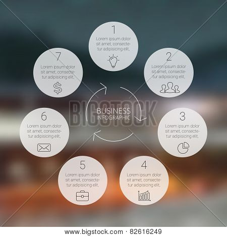 Circle infographic, diagram, graph, presentation, chart.
