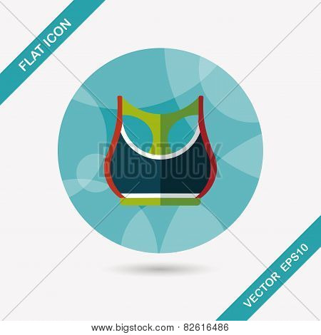 Sports Tank Vest Flat Icon With Long Shadow,eps10