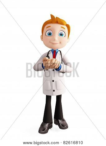 Doctor With Promise Pose