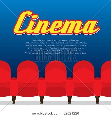 Cinema Seats Row.