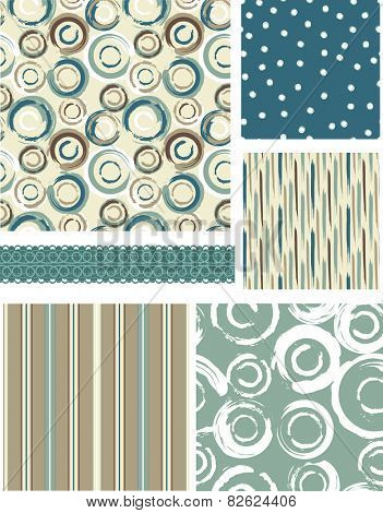 Bold Circular Vector Patterns. Use as pattern fills to create stunning items for art and craft projects.
