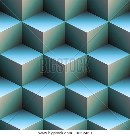 3D Cubes In Blue