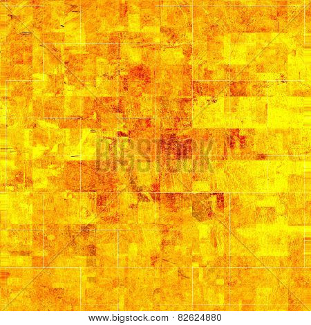 grunge golden mosaic, gold background