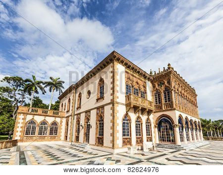 Ca D'zan Is An Elaborate Venetian-style Villa Modeled In Part After The Doges Palace In Venice
