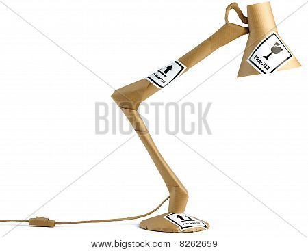 Anglepoise Lamp Wrapped Up In Brown Paper