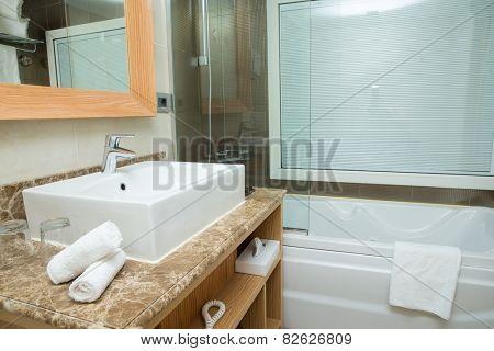 modern design of bathroom