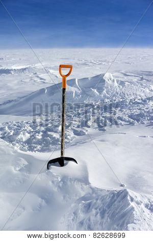 Snow Shovel In Snow