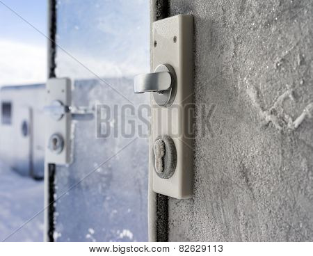 Frozen Castle On Glass Doors