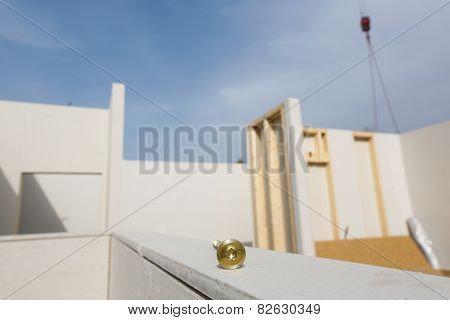 Prefabricated House In The Making With Screw