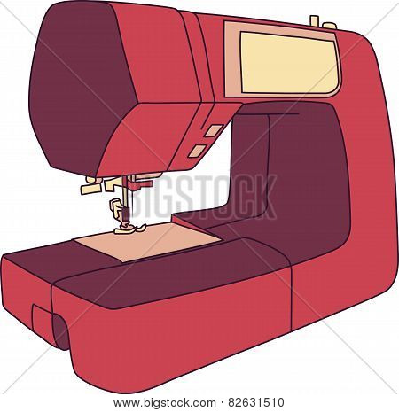 Cartoon Sewing Machine