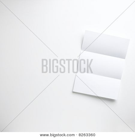 Blank Folded Letter On A White Background