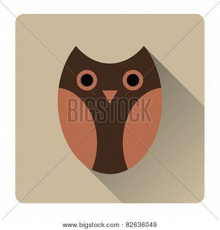 Owl stylized icon nature colors