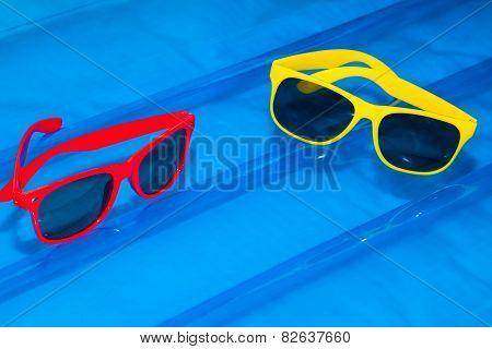 Sunglasses On Air Mattress