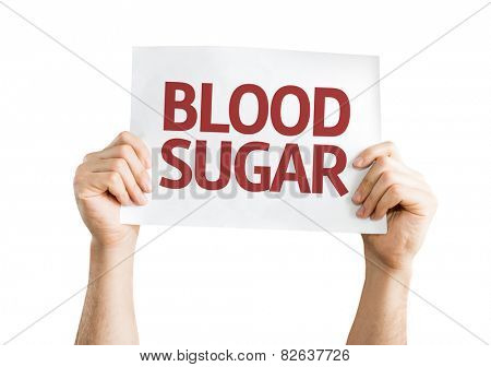 Blood Sugar card isolated on white background