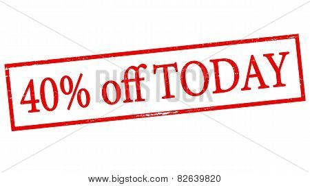Forty Percent Off Today