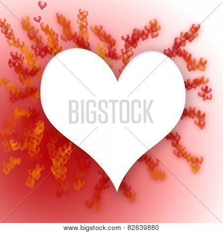 valentine heart red background