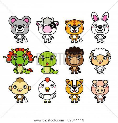 12 Chinese Zodiac animal