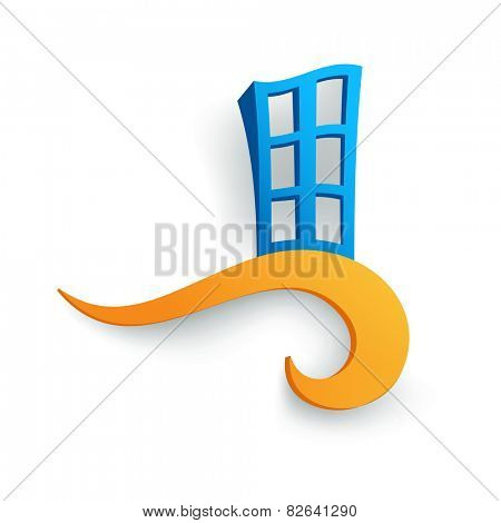 Vector illustration of a symbolic representation of the building
