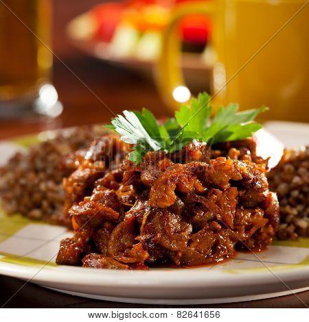 Goulash with Buckwheat