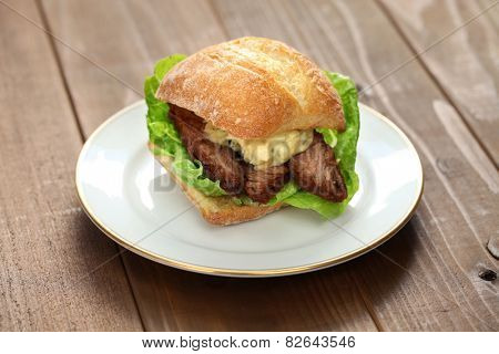 barbecue beef brisket sandwich