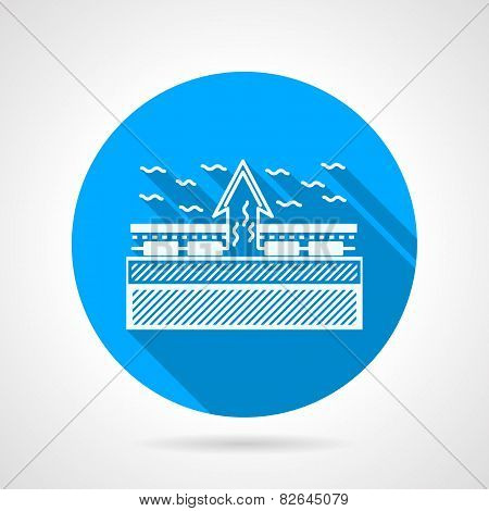 Under floor heating flat vector icon