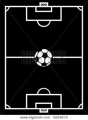 soccer field black
