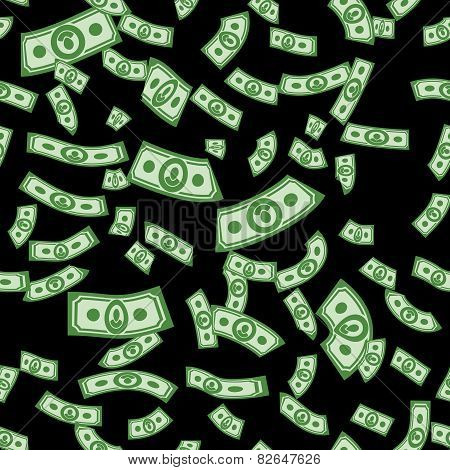 money frame, vector money background