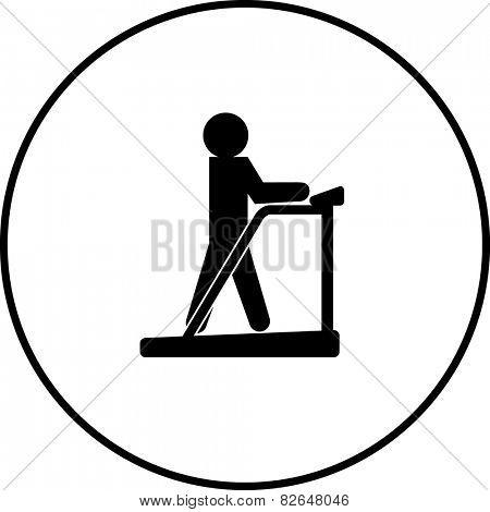 treadmill symbol