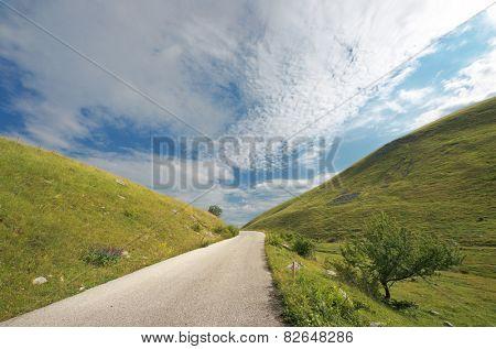 mountain road of Durmitor Park, Montenegro