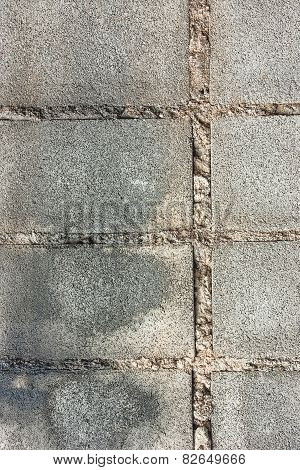 The Surface Of The Concrete Blocks.