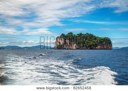 Islands in Andaman sea near Phi Phi islands. Thailand