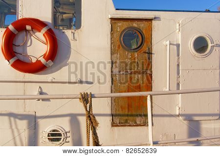 Wooden Door On A Cutter Fishing