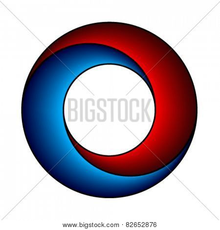 vector abstract red blue circle design