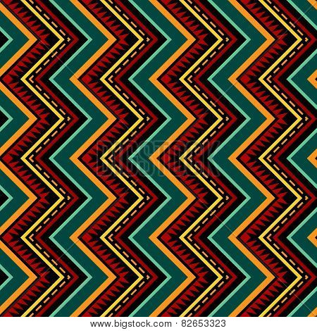 Vertical Zigzag Tribal Seamless Pattern