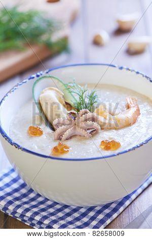 Seafood creamy soup