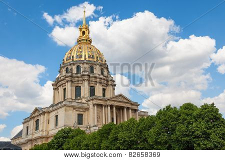 Dome of Les Invalides Paris France.