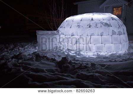 Igloo at night