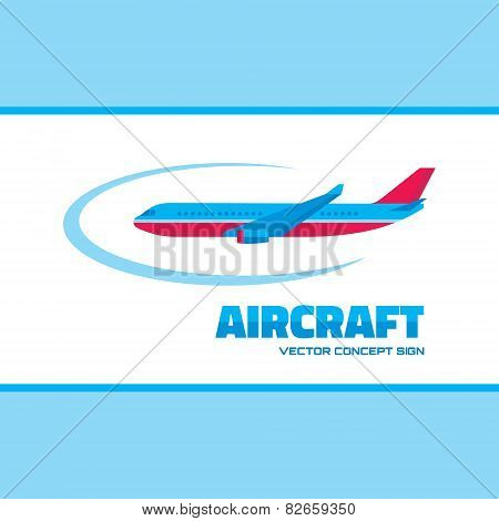 Aircraft - vector logo concept illustration. Vector logo template.