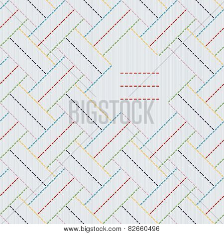 Text frame. Traditional Japanese Embroidery Ornament with weaving. Seamless vector.