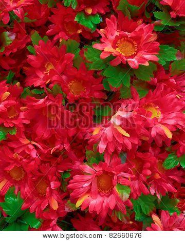 fake chrysanthemums floral background
