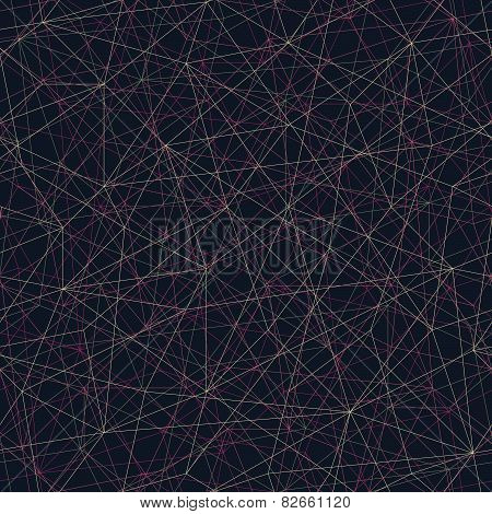 Abstract mosaic pattern with triangles. Seamless vector.