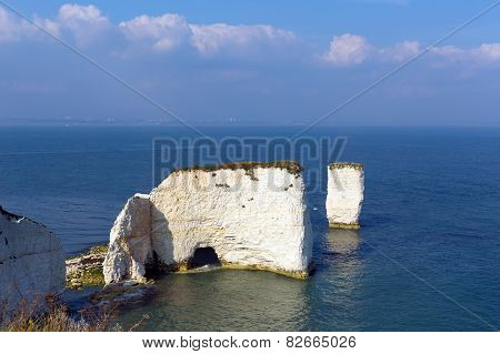 Jurassic Coast Dorset England UK chalk stacks Old Harry Rocks