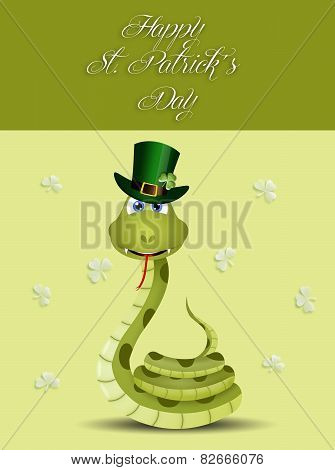 Funny Snake For St. Patrick's Day