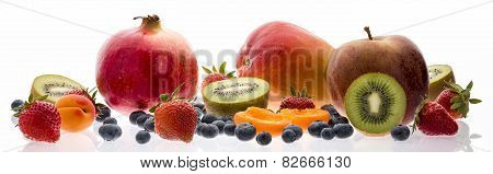 Wide Selection Of Fruit Isolated On White
